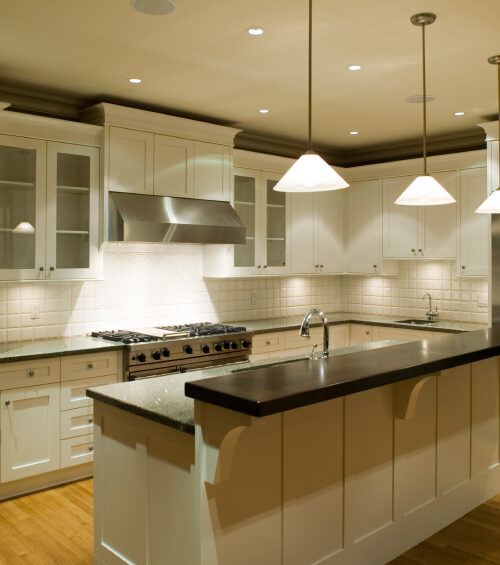 unfurnished modern kitchen